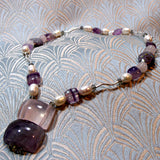 handmade semi-precious necklace short design