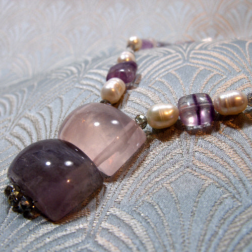 short necklace, short handmade gemstone necklace uk crafted