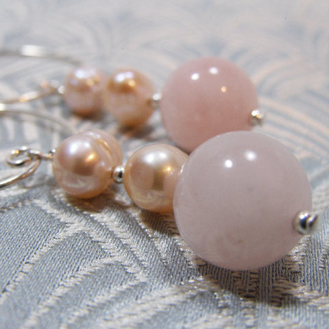 Rose Quartz Handmade Earrings UK