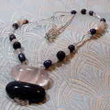 rose quartz necklace unique design