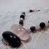 rose quartz necklace handcrafted uk