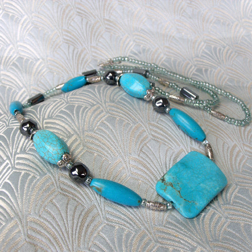long turquoise necklace, online jewellery sale uk