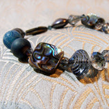 semi-precious blue bracelet with crystals