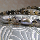 grey pearls and gemstones