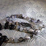 grey black semi-precious beads