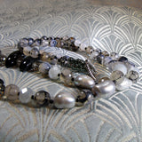grey agate beads