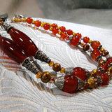 long semi-precious stone necklace detail