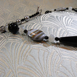 grey and black semi-precious stones