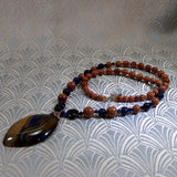 agate gemstone necklace design