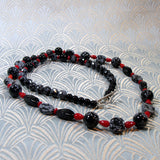 long snowflake obsidian necklace uk