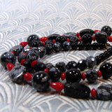 snowflake obsidian long necklace uk