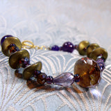 stunning handcrafted purple crystal bracelet