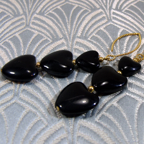 long black earrings uk, unique long gemstone earrings