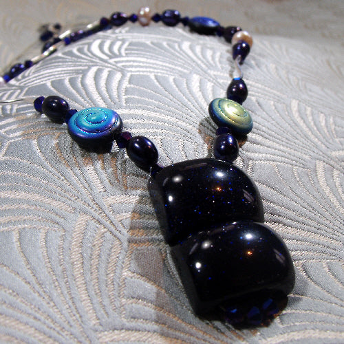 unique handmade necklace, semi-precious stone unique necklace