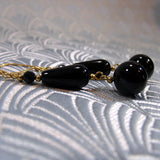 handmade gemstone jewellery, long semi-precious stone earrings