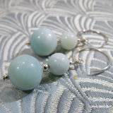 semi-precious amazonite drop earrings uk