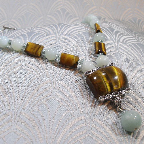 unique handmade necklace, semi-precious stone necklace