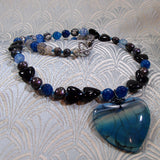 agate heart pendant necklace uk crafted