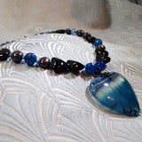 unique agate pendant necklace handmade uk