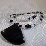 sterling silver black onyx necklace uk