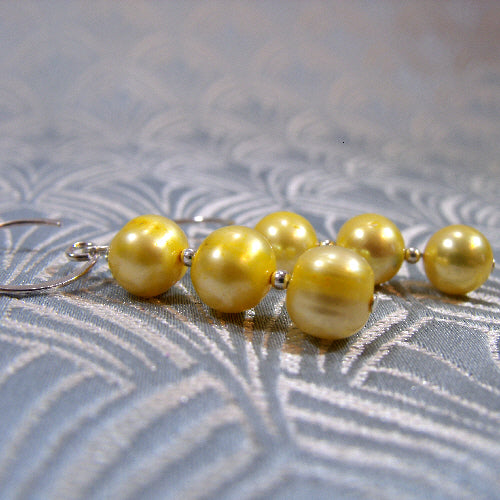 lemon pearl earrings handmade uk, handmade jewellery