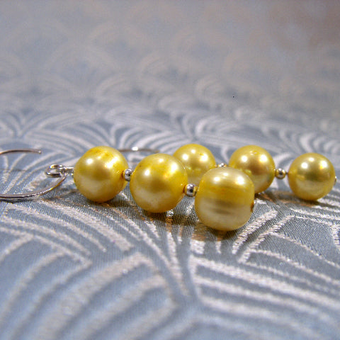 Handmade Lemon Pearl Earrings UK