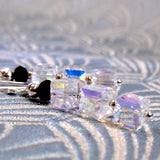 handmade jewellery, medium drop crystal earrings uk