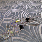 handcrafted crystal drop earrings