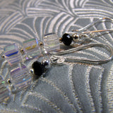 crystal sterling silver earrings