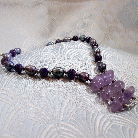 Unique Amethyst Pendant Necklace
