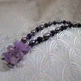 unique handmade amethyst pendant necklace