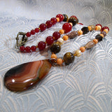 handmade agate pendant necklace