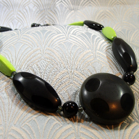 Green Statement Necklace (940)