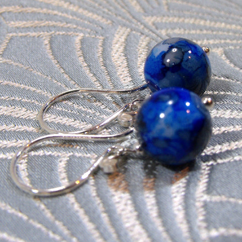 Blue Agate semi-precious earrings