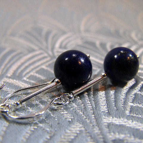 Lapis Lazuli gemstone earrings UK