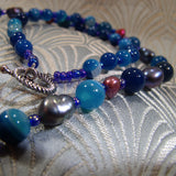 blue semi-precious gemstone beads pearls