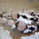 rose quartz handmade necklace