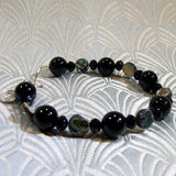 black onyx bracelet with paua shell