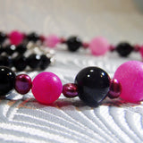 pink black gemstones