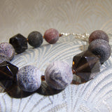 smoky quartz gemstone bracelet handmade uk