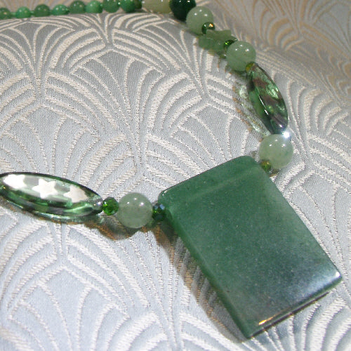 aventurine handmade jewellery necklace, unique semi-precious gemstone jewellery