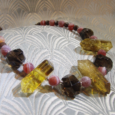 Smoky Quartz Necklace (956)