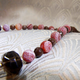 brown semi-precious beads