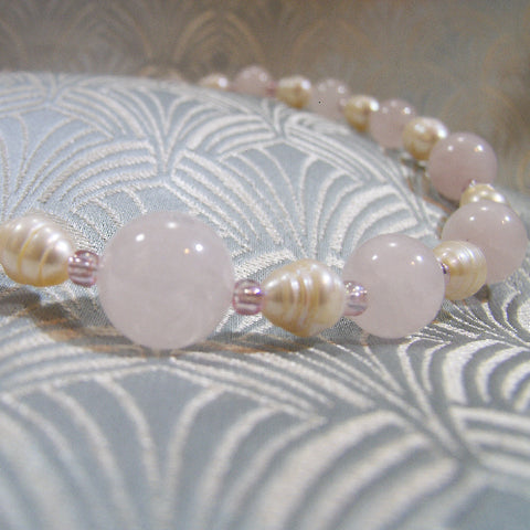 Rose Quartz Gemstone Necklace UK