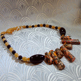 unique orange jasper necklace uk