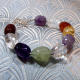 unique semi-precious stone bracelet design