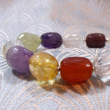 handmade semi-precious stone bracelet, unique gemstone bracelet uk crafted