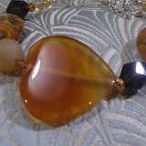 carnelian heart shaped bead