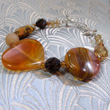unique carnelian bracelet handmade uk