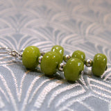 handmade green gemstone earrings uk